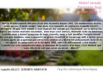 SERENITE  HABITAT Témoignage Vente hotel Finistère Sud 2016