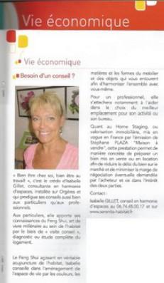 Isabelle GILLET page éco de la gazette ORGERES 2013